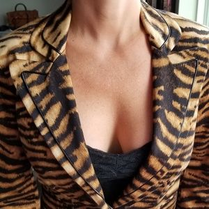 Tiger Print styled blazer. Small 4-6